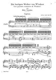 Виндзорские проказницы: Каприс для фортепиано by Отто Николаи