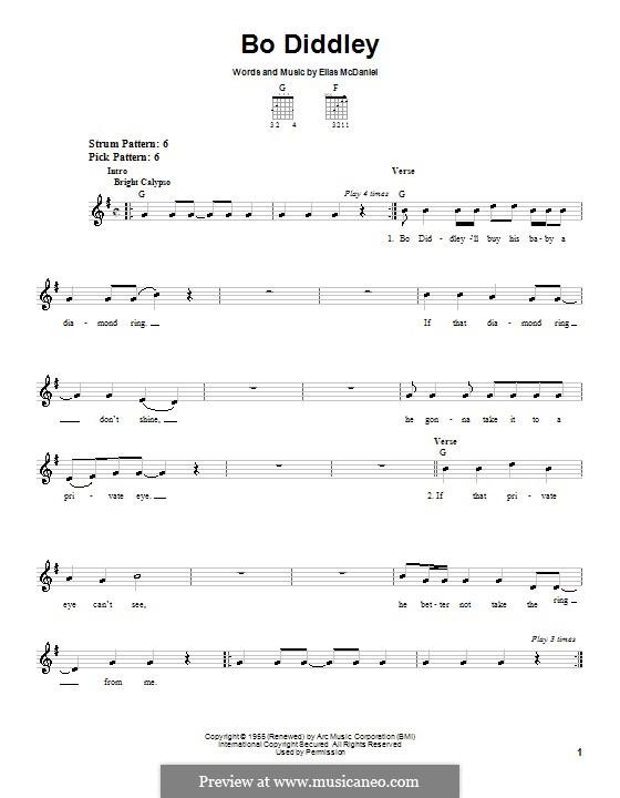 Bo Diddley (Bo Diddley): Для гитары (очень легкая версия) by Ellas McDaniel