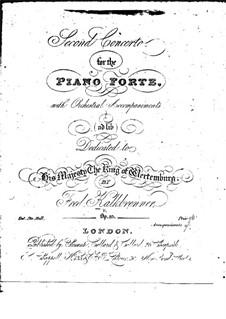 Фортепианный концерт No.2 , Op.85: Фортепианный концерт No.2  by Фридрих Калькбреннер