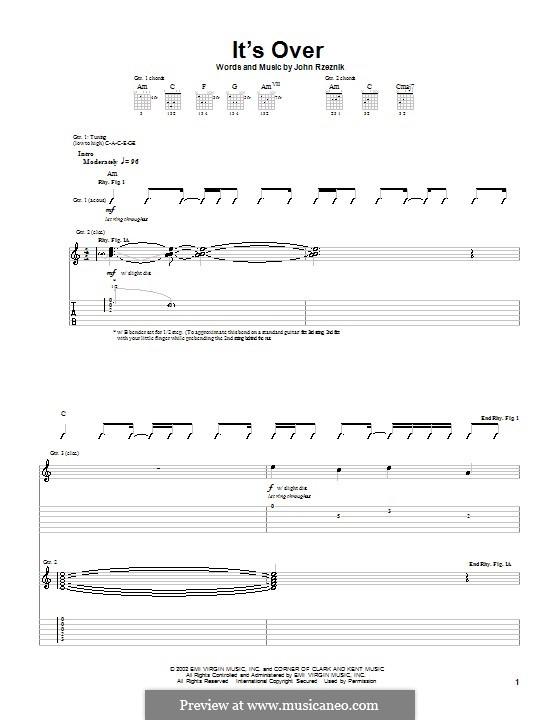 It's Over (Goo Goo Dolls): Для гитары с табулатурой by John Rzeznik