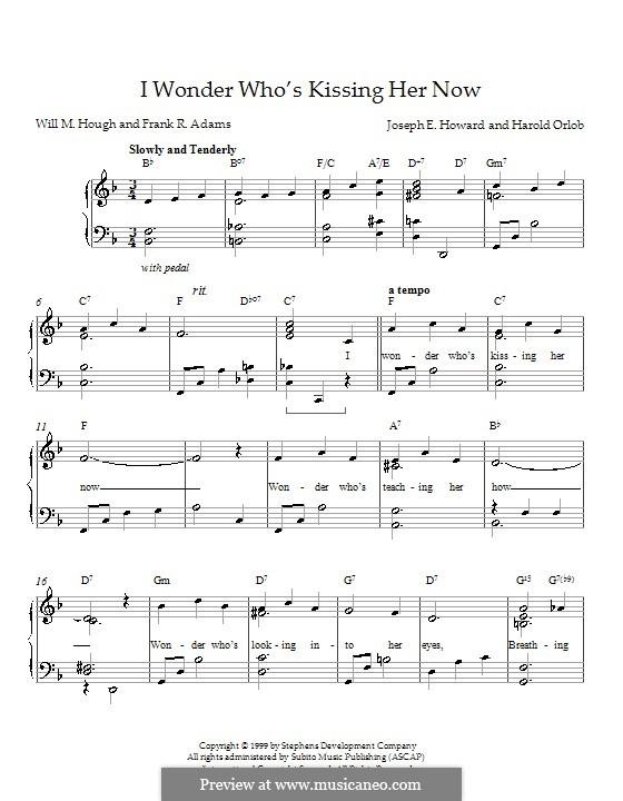I Wonder Who's Kissing Her Now: Для фортепиано by Joseph Edgar Howard