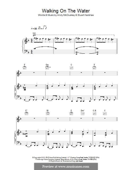 Walking on the Water (Atomic Kitten): Для голоса и фортепиано (или гитары) by Andy McCluskey, Stuart Kershaw