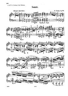 Соната для фортепиано No.3 си минор, Op.58: Для одного исполнителя by Фредерик Шопен