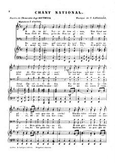 Ô Canada: Клавир с вокальной партией by Каликса Лавалле
