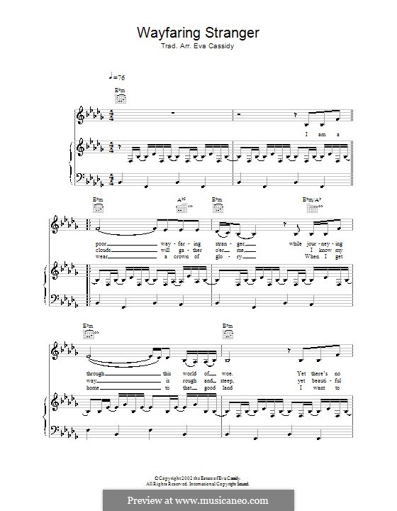 Wayfaring Stranger: Для голоса и фортепиано (или гитары) by folklore