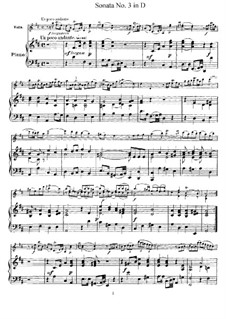 Соната для скрипки и бассо континуо No.3, Op.9: Версия для скрипки и фортепиано – партитура и партии by Жан-Мари Леклер