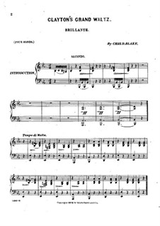 Clayton's Grand Waltz: Clayton's Grand Waltz by Чарлз Дюпи Блейк