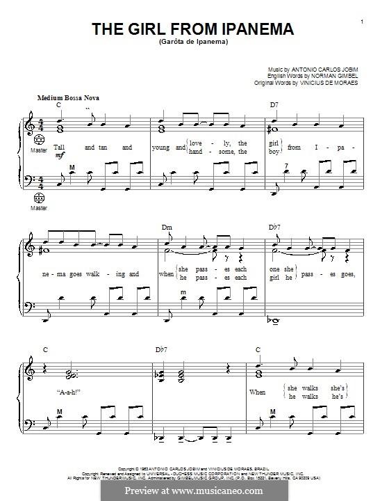 The Girl from Ipanema (Garota de Ipanema): Для аккордеона by Antonio Carlos Jobim
