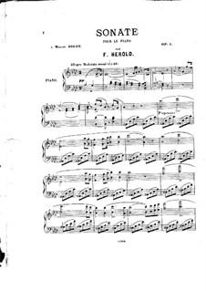 Соната ля-бемоль мажор, Op.9: Соната ля-бемоль мажор by Фердинанд Герольд