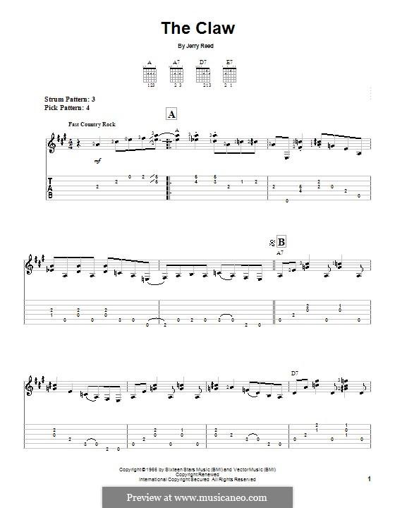 The Claw: Для гитары (очень легкая версия) by Jerry Reed