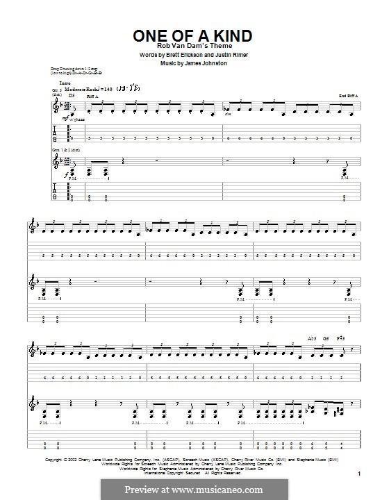 One of a Kind (Breaking Point): Гитарная табулатура by James D. Johnston, Brett Erickson, Justin Rimer
