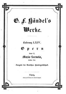 Muzio Scevola, HWV 13: Акт III by Георг Фридрих Гендель