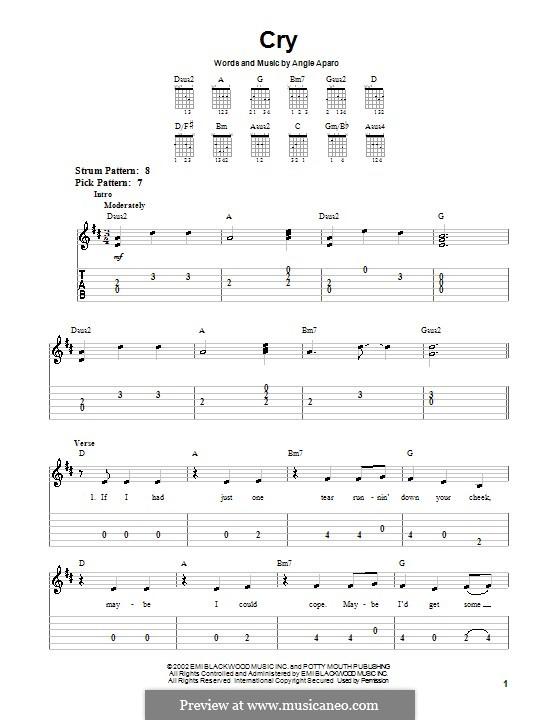 Cry (Faith Hill): Для гитары (очень легкая версия) by Angie Aparo