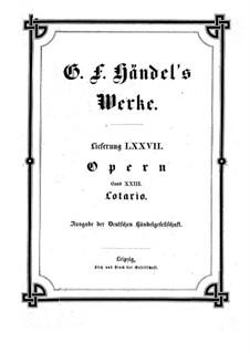 Lothair, HWV 26: Lothair by Георг Фридрих Гендель