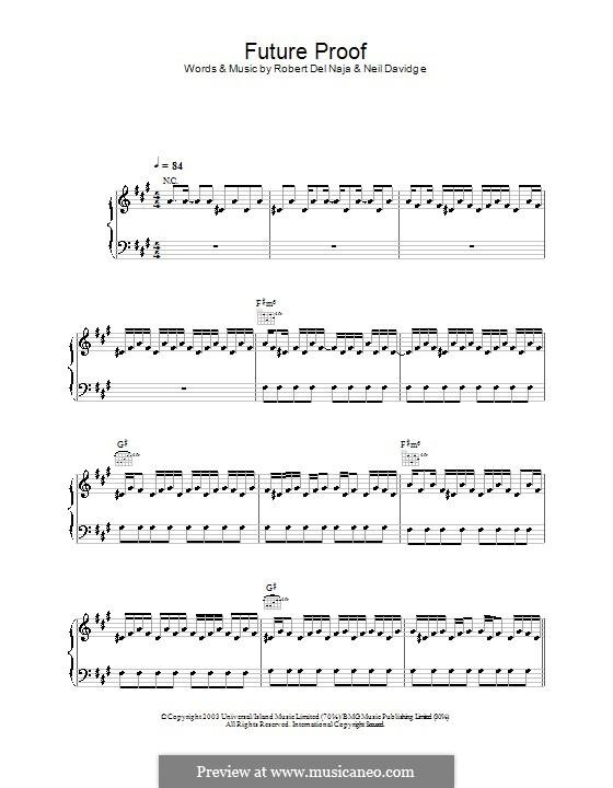Future Proof (Massive Attack): Для голоса и фортепиано (или гитары) by Neil Davidge, Robert Del Naja