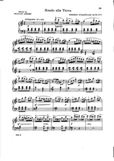 Corbeille de roses, Op.68: No.3 Rondo alla Turca by Иоганн Фридрих Бургмюллер