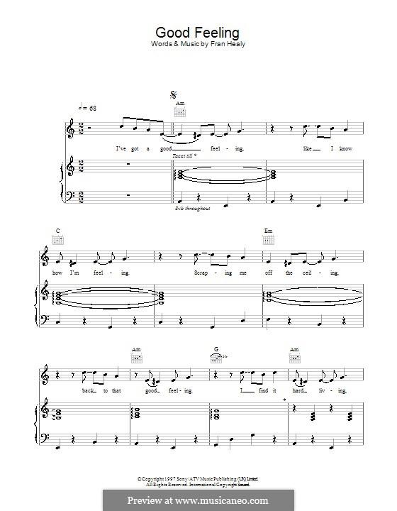 Good Feeling (Travis): Для голоса и фортепиано (или гитары) by Fran Healy