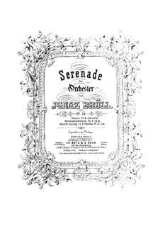 Серенада No.1 для оркестра, Op.29: Версия для фортепиано в 4 руки by Игнац Брюль