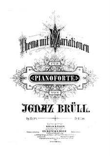 Две пьесы для фортепиано, Op.35: Две пьесы для фортепиано by Игнац Брюль