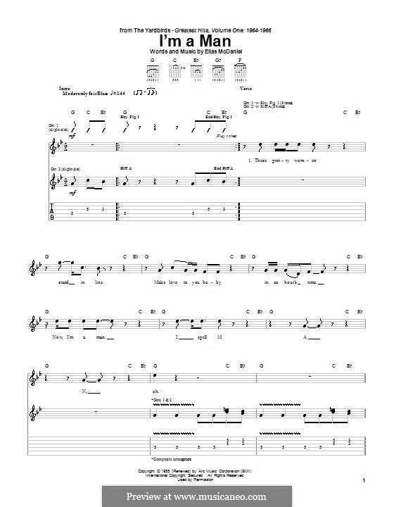 I'm a Man (The Yardbirds): Для гитары с табулатурой by Ellas McDaniel