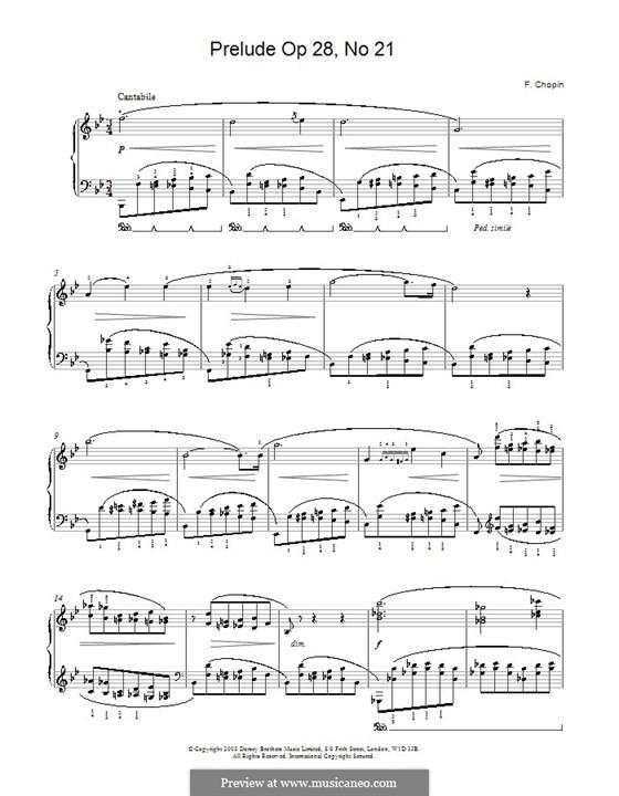 No.21 си-бемоль мажор: Для фортепиано by Фредерик Шопен