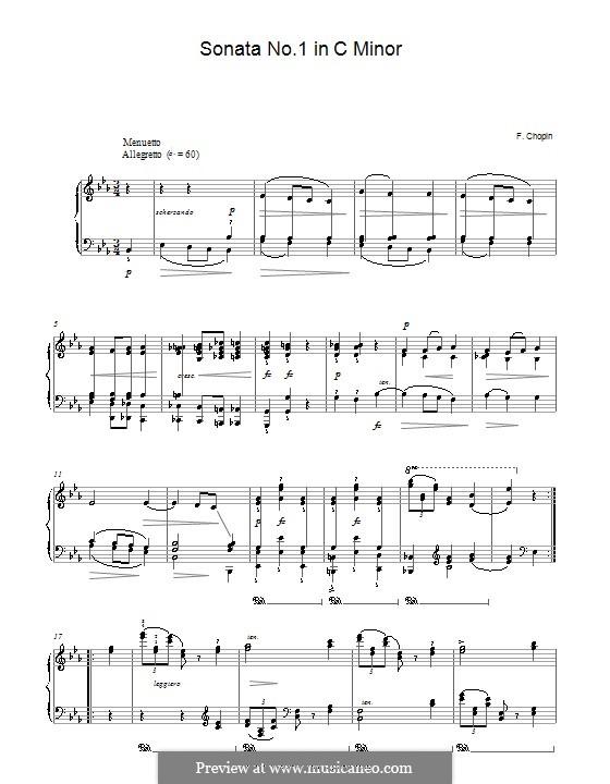 Соната для фортепиано No.1 до минор, Op.4: Часть II by Фредерик Шопен