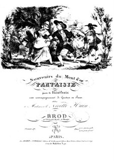Souvenirs du Mont d'or, Op.27: Souvenirs du Mont d'or by Анри Брод