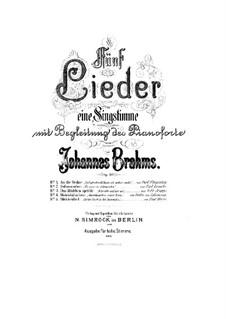 Пять песен, Op.107: Сборник by Иоганнес Брамс