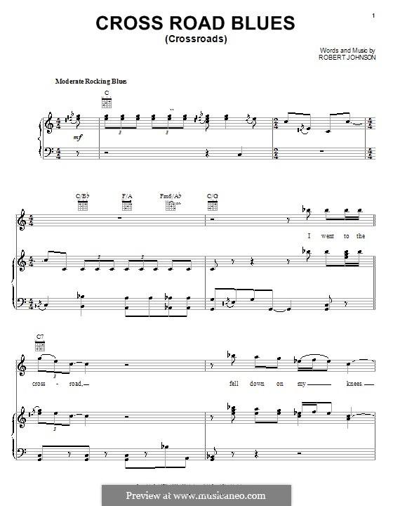 Cross Road Blues (Crossroads): Для голоса и фортепиано (или гитары) by Robert Leroy Johnson