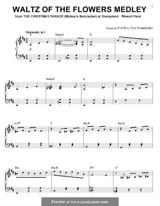 No.8 Вальс цветов: Для фортепиано by Петр Чайковский