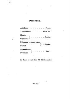 Achilleus, Op.50: Achilleus by Макс Брух