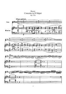 Концерт для скрипки с оркестром ре мажор, BV 243 Op.35a: Версия для скрипки и фортепиано by Ферруччо Бузони