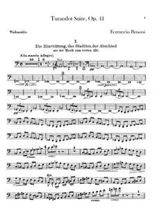 Турандот. Сюита, BV 248 Op.41: Партия виолончелей by Ферруччо Бузони