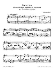 Сонатина для фортепиано No.3 'Ad usum infantis', BV 268: Для одного исполнителя by Ферруччо Бузони