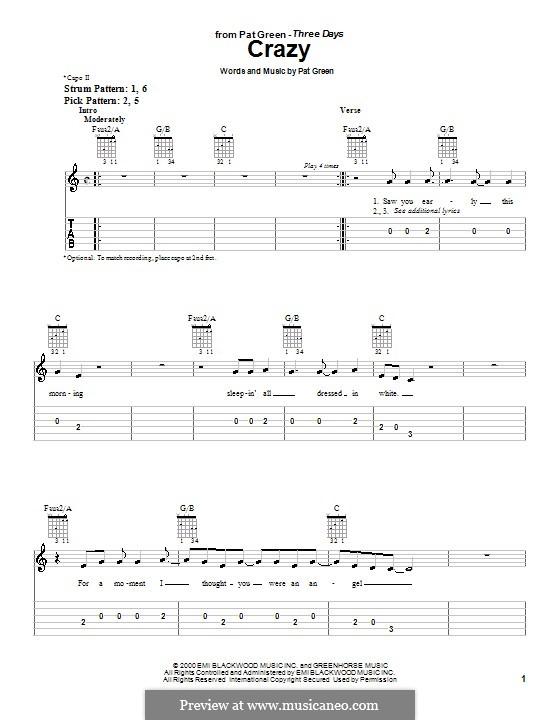 Crazy: Для гитары (очень легкая версия) by Pat Green