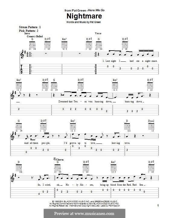 Nightmare: Для гитары (очень легкая версия) by Pat Green