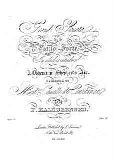 Фортепианная соната ля мажор, Op.35: Фортепианная соната ля мажор by Фридрих Калькбреннер