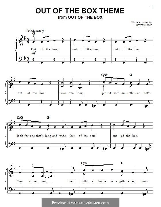 Out of the Box Theme: Для фортепиано (легкий уровень) by Peter Lurye
