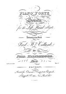 Фортепианная соната для левой руки, Op.40: Фортепианная соната для левой руки by Фридрих Калькбреннер