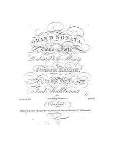 Фортепианная соната фа минор, Op.56: Фортепианная соната фа минор by Фридрих Калькбреннер