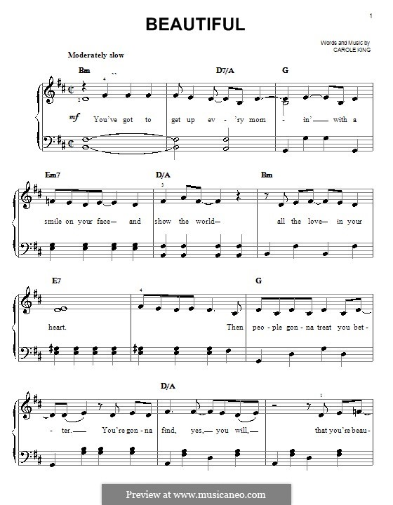 Beautiful: Для начинающего пианиста by Carole King