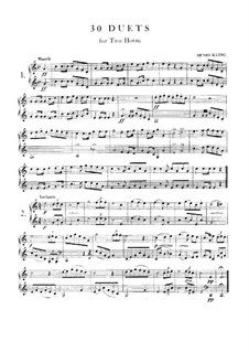 Тридцать дуэтов для двух валторн: Тридцать дуэтов для двух валторн by Анри Клинг