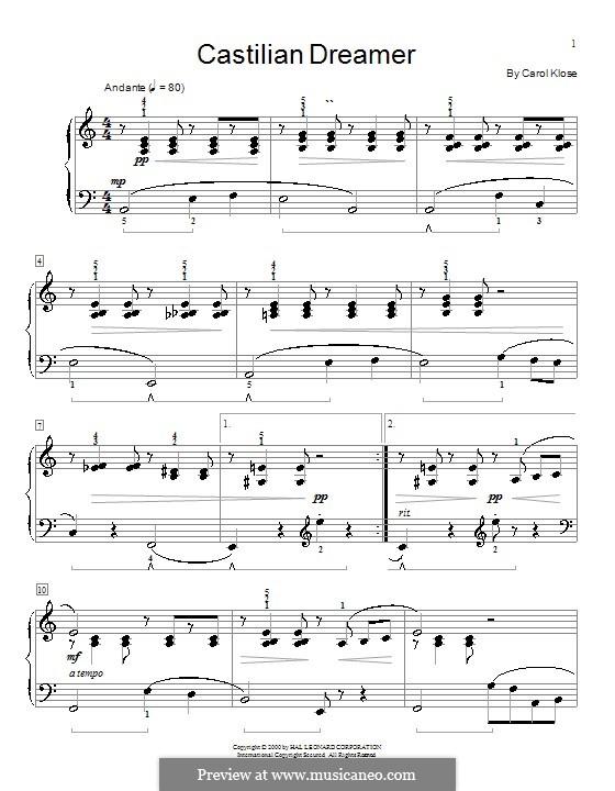 Castilian Dreamer: Для фортепиано by Carol Klose
