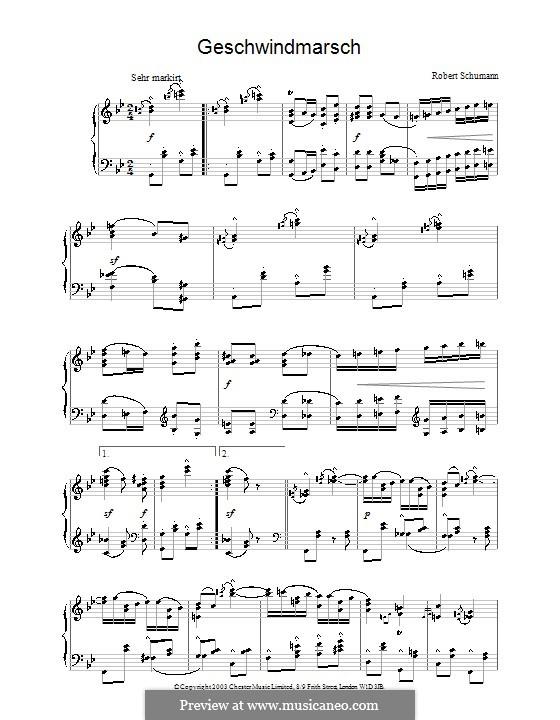 Пёстрые листки, Op.99: No.14 Geschwindmarsch by Роберт Шуман