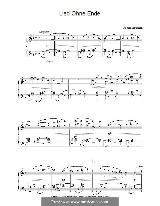 Листки из альбома, Op.124: No.8 Беспредельная скорбь by Роберт Шуман