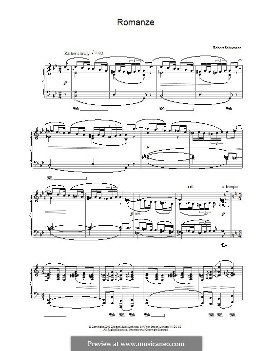 Романс для фортепиано: Романс для фортепиано by Роберт Шуман