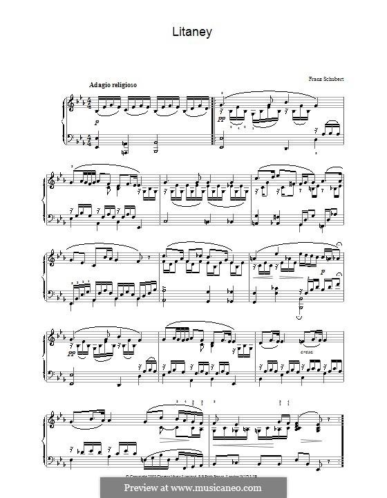 Литания, D.343: Для фортепиано by Франц Шуберт