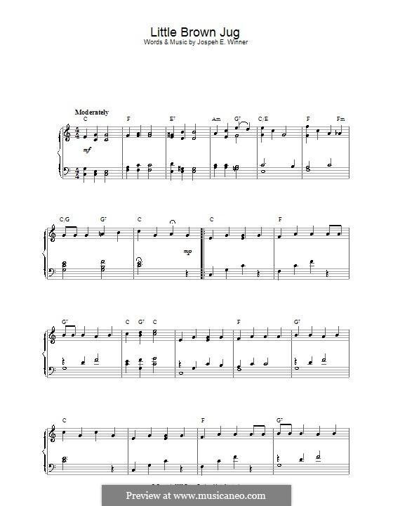 Little Brown Jug: Для фортепиано by Joseph Eastburn Winner