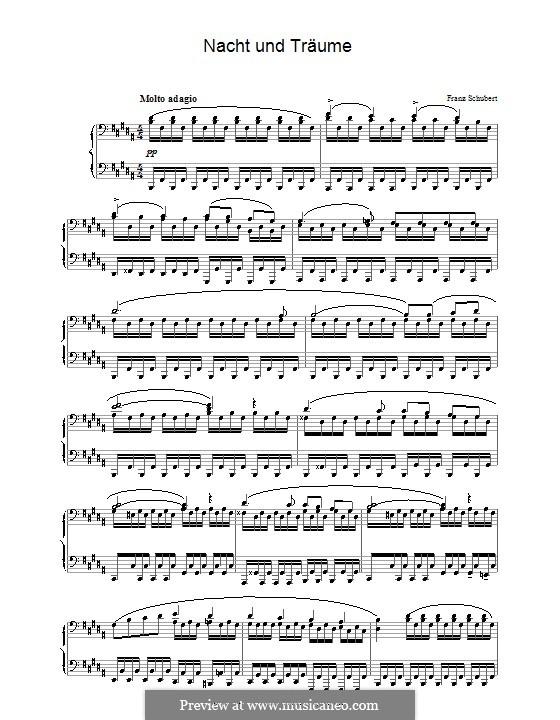 Ночь и грёзы, D.827 Op.43 No.2: Для фортепиано by Франц Шуберт