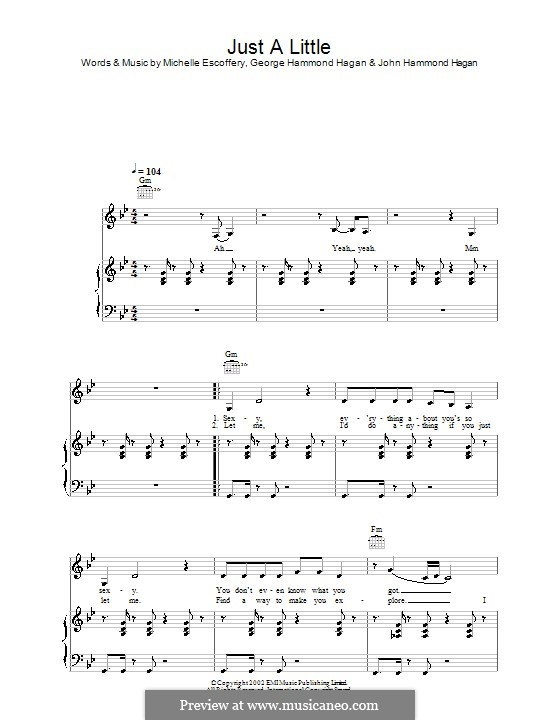 Just a Little (Liberty X): Для голоса и фортепиано (или гитары) by George Hammond Hagan, John Hammond Hagan, Michelle Escoffery